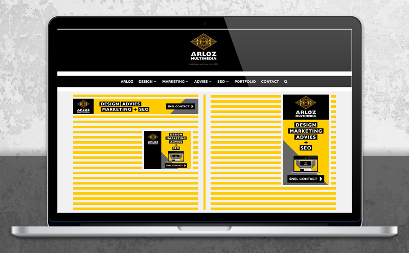 Banner ontwerp bannerformaat display advertentie