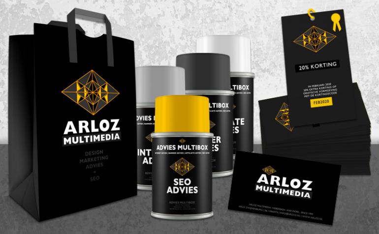 Design kortingscode print drukwerk Arloz