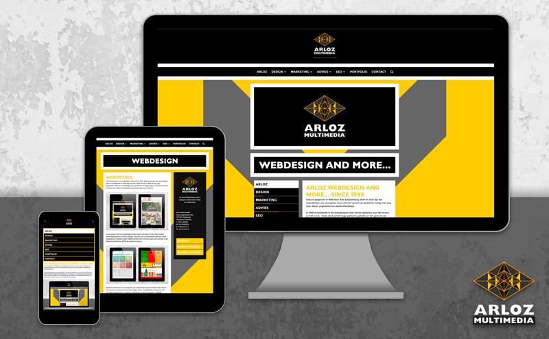 Webdesign Arloz WordPress website redesign