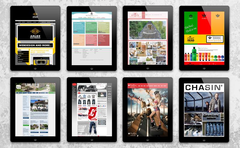 Webdesign portfolio voorbeelden Arloz, website portfolio klanten: klanten 1999-2020