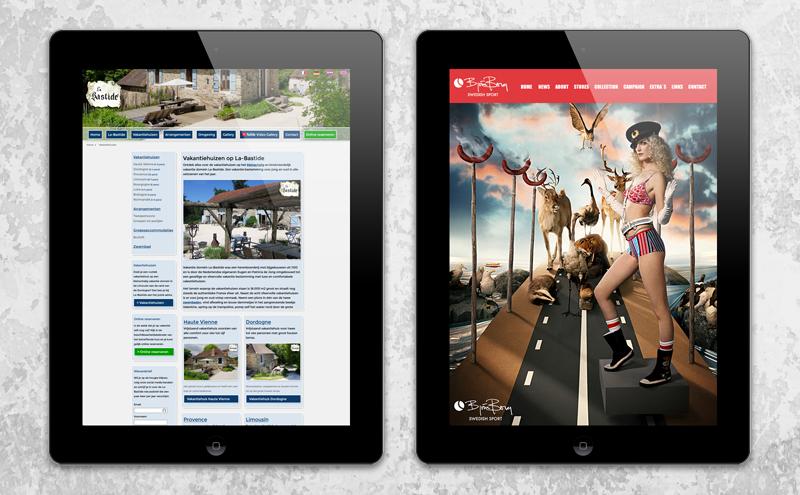 Webdesign voorbeeld Arloz, website portfolio klanten: La-Bastide en Bjornborg