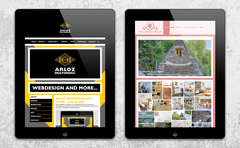 Webdesign WordPress website ontwerp door Arloz!