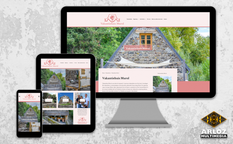 WordPress website redesign van vakantiehuis Murol door Arloz!