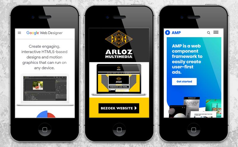 Amp html advertenties, banner ontwerp display banneradvertentie webdesign door Arloz!