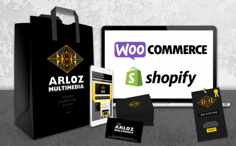 Arloz webshop e-commerce platformen Shopify & WordPress Woocommerce