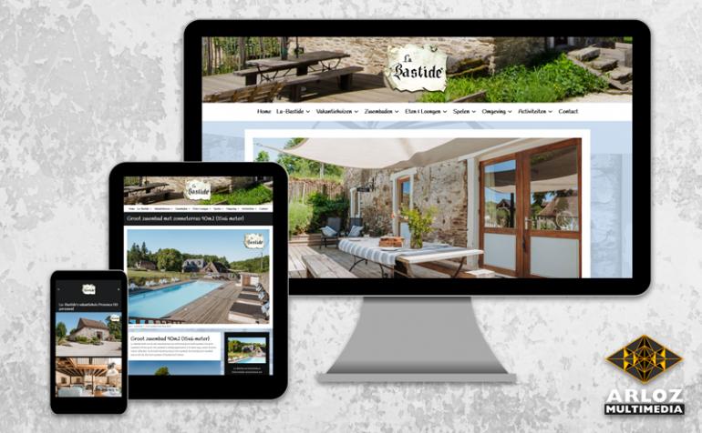 WordPress website responsive webdesign vakantiehuis La-Bastide portfolio voorbeeld Arloz