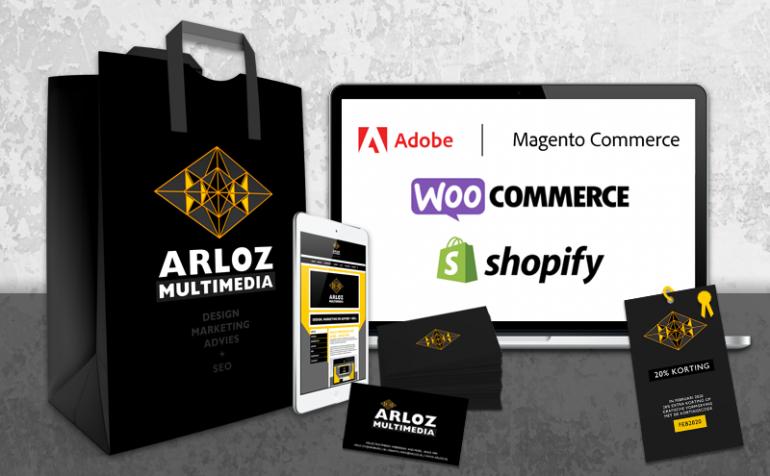Arloz webshop e-commerce platformen Adobe, Magento, Shopify en WordPress Woocommerce