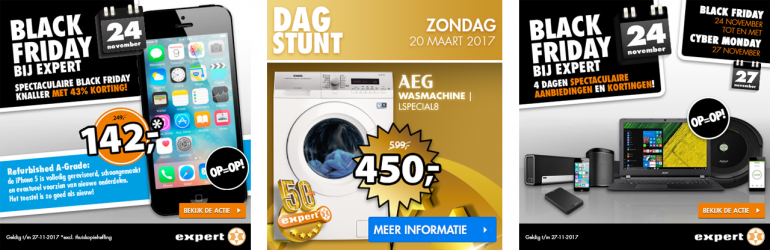 Webshop dagaanbieding Black Friday banner dagstunt e-commerce ontwerp door Arloz