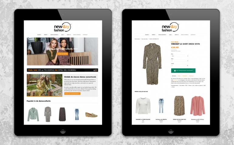 Webshop ontwerp Shopify webshop voorbeeld portfolio webdesign en e-commerce door Arloz