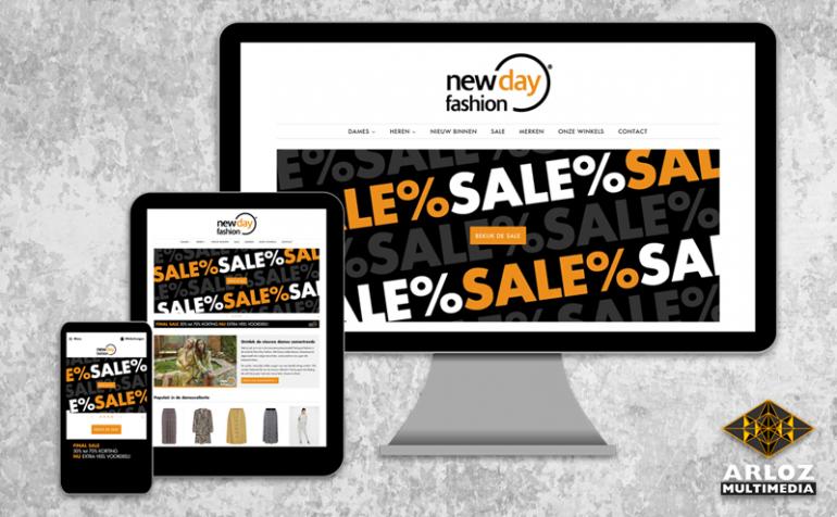 Webshop ontwerp Shopify webshop voor lokale kledingwinkel retail e-commerce door Arloz